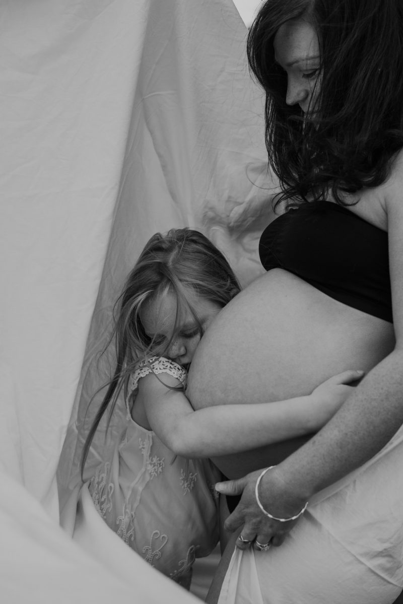 pregnancy, belly love, mother and daughter