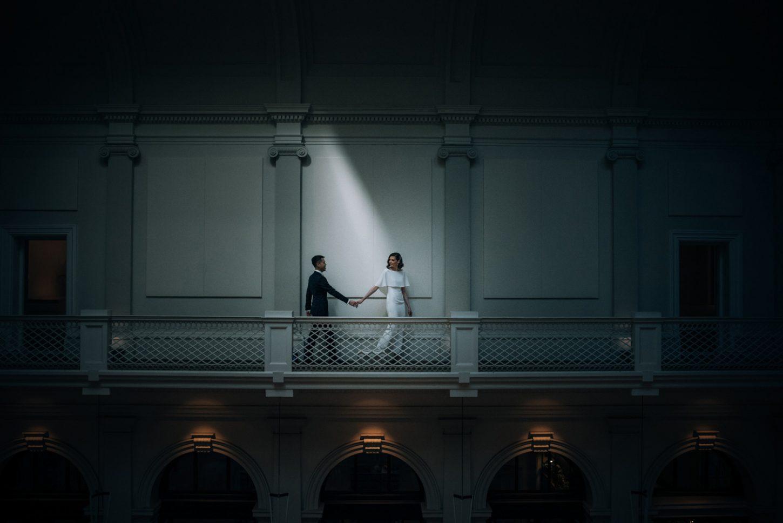 Como the treasury wedding couple